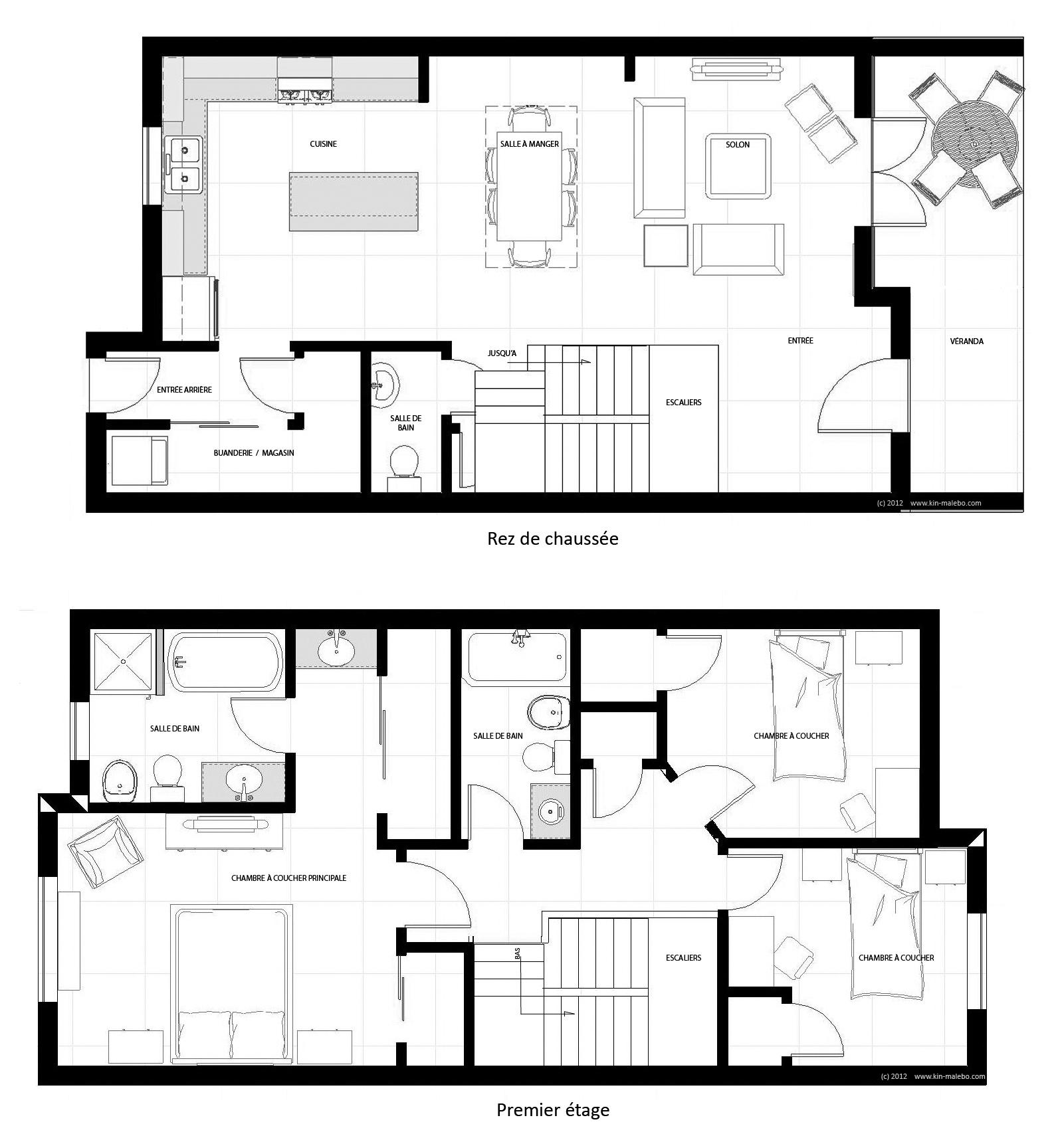 Maison jumel e de 150 m2 la cit kin malebo for Cuisine 9 metre carre